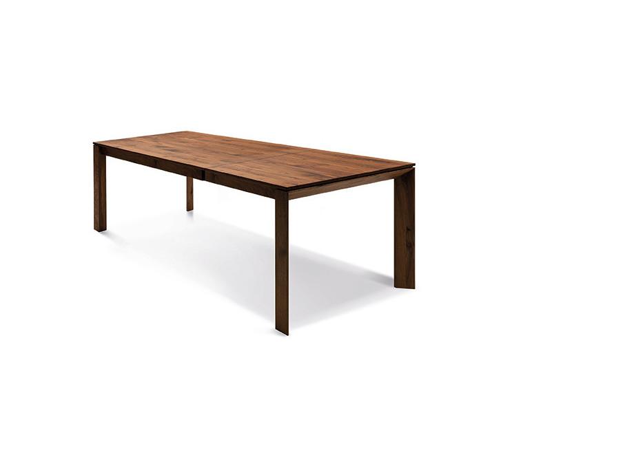 Auszugtisch Valbella Amerik. Nussbaum 160+80 x 95cm Lüönd 01