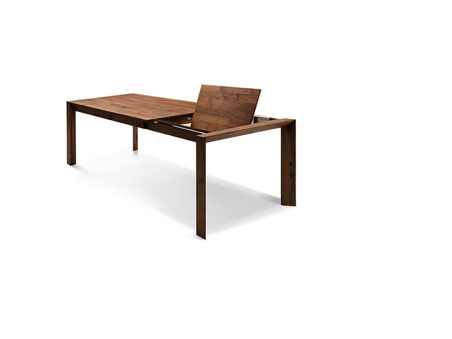 Auszugtisch Valbella Amerik. Nussbaum 160+80 x 95cm Lüönd 04