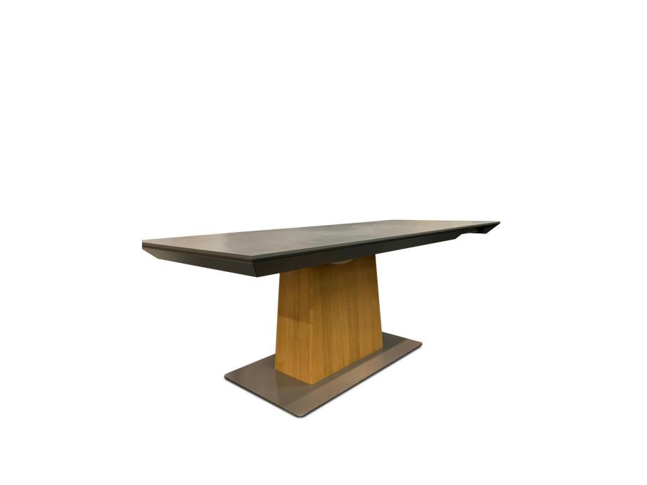 Tisch Modell Diegaro von Willisau 180 x 95 cm mit Verlängerung, Blatt in Stucco 12