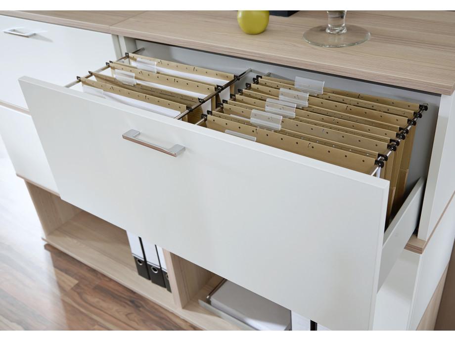 Home-Office Paket Nr. 1 mit elektrisch höhenverstellbaren Schreibtisch 01