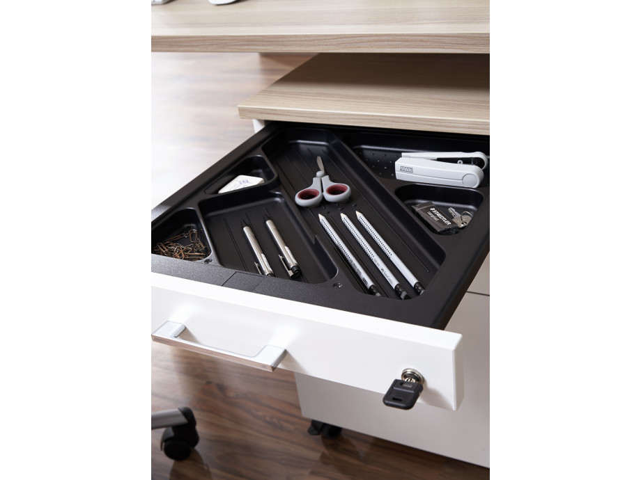 Home-Office Paket Nr. 1 mit elektrisch höhenverstellbaren Schreibtisch 03