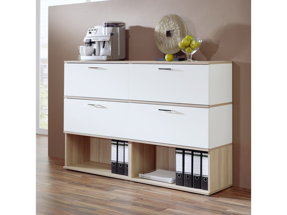 Home-Office Paket Nr. 1 mit elektrisch höhenverstellbaren Schreibtisch 02