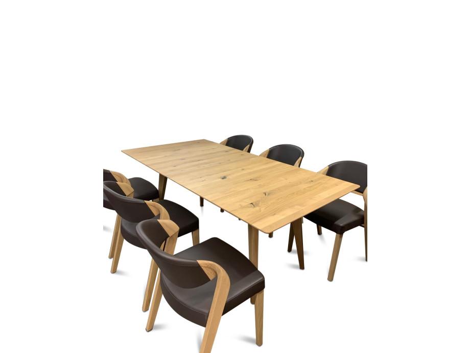 Esstisch massiv von Voglauer mit Auszug komplett mit 6 Stühlen 15