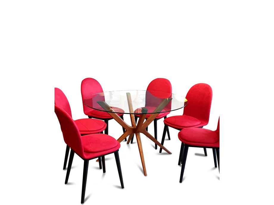 Esstisch Round Glas Table 02