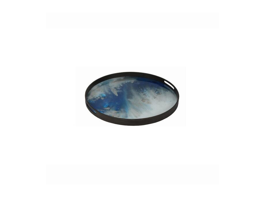 Glastablett blauer Nebel 03