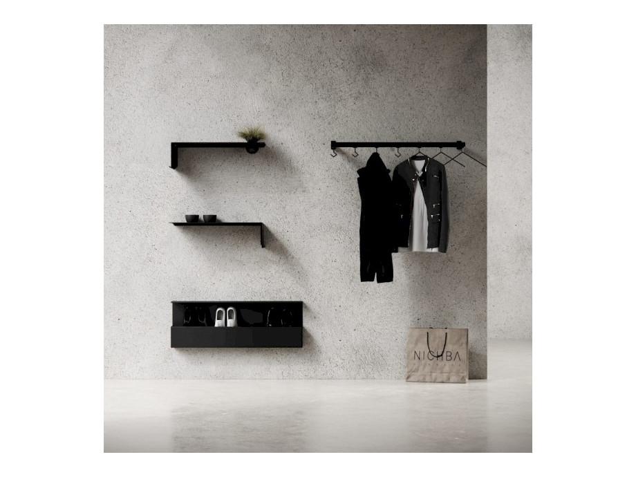 Kleiderständer Nichba Design - HangSys Garderobe L100cm x T26cm 03