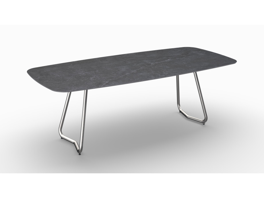 Gartentisch JURA (Tischgestell Edelstahl) 06