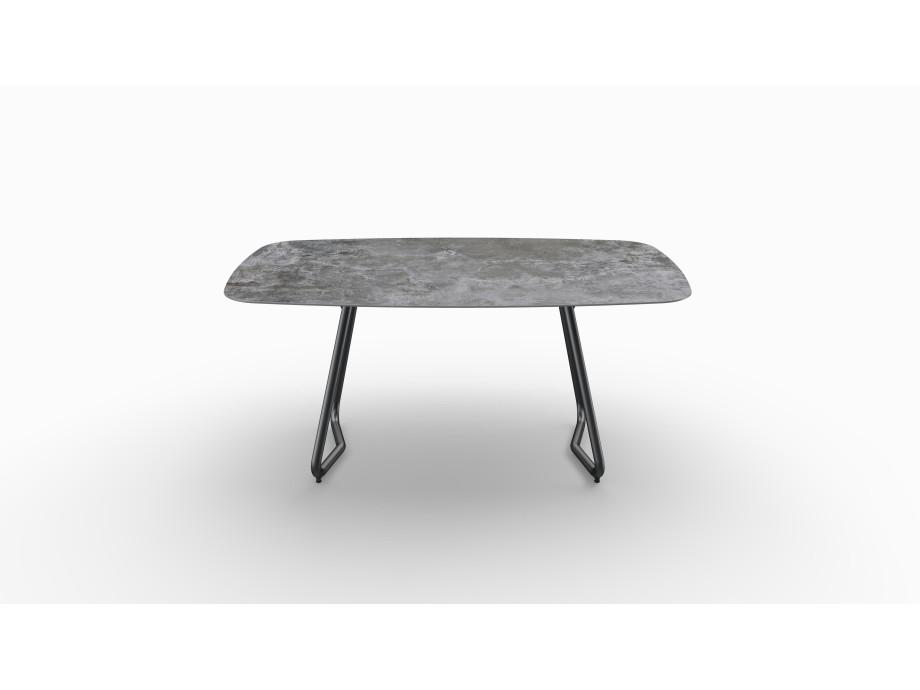 Gartentisch JURA (Tischgestell Stahl eisengrau, Tischplatte Orix) 02