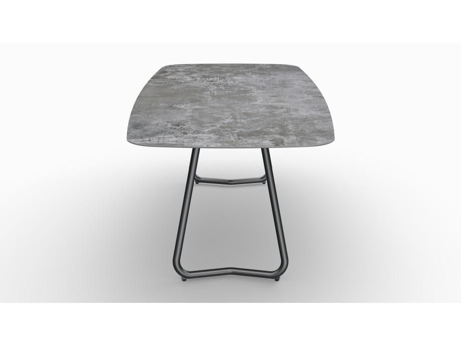 Gartentisch JURA (Tischgestell Stahl eisengrau, Tischplatte Orix) 08