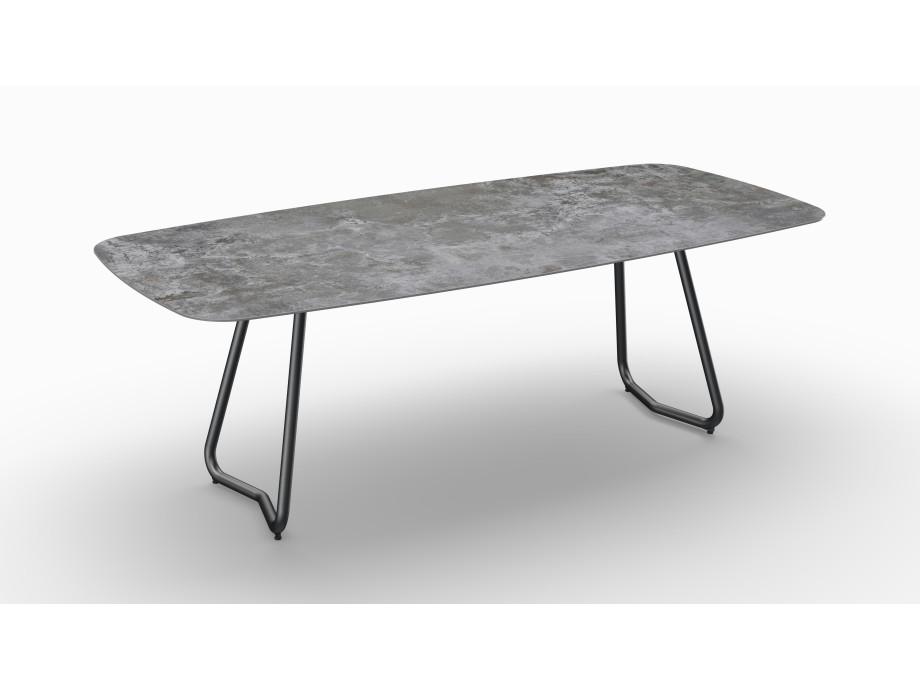 Gartentisch JURA (Tischgestell Stahl eisengrau, Tischplatte Orix) 06