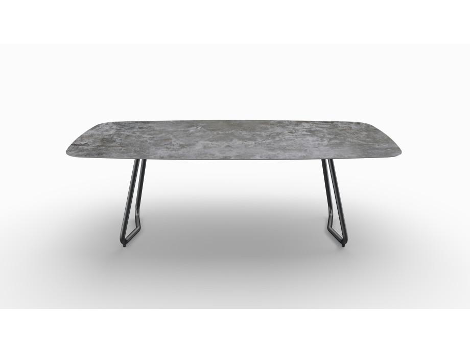 Gartentisch JURA (Tischgestell Stahl eisengrau, Tischplatte Orix) 07