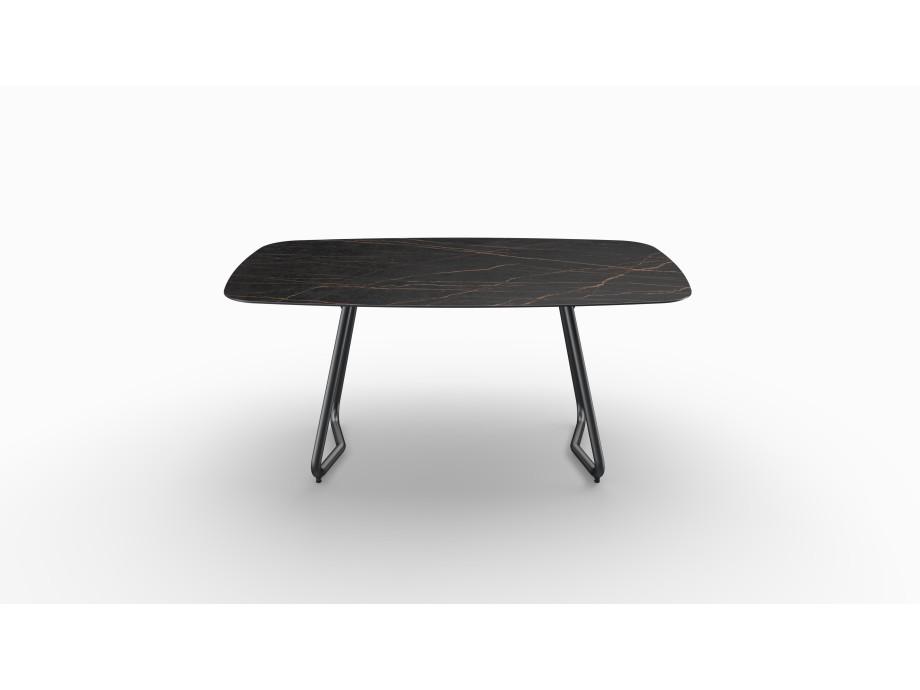 Gartentisch JURA (Tischgestell Stahl eisengrau, Tischplatte Laurent) 02