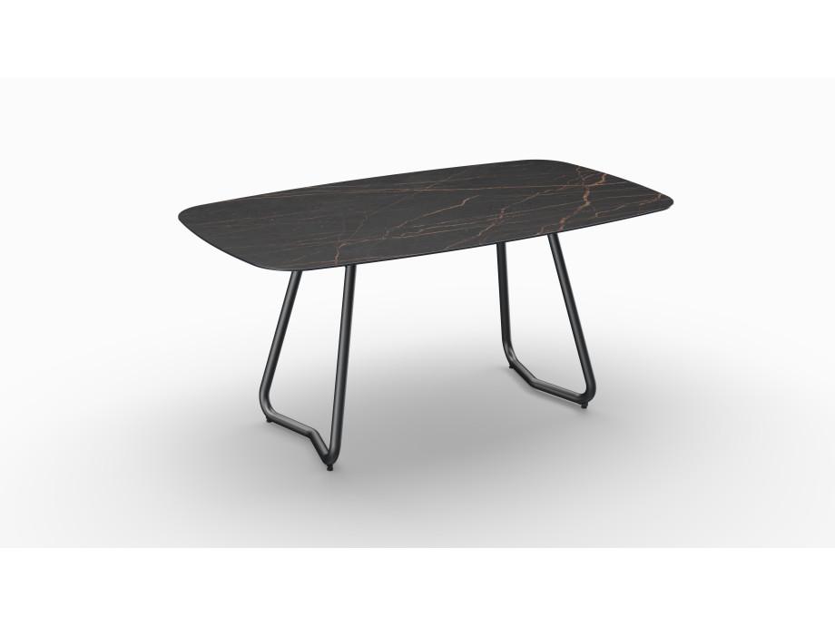 Gartentisch JURA (Tischgestell Stahl eisengrau, Tischplatte Laurent) 01