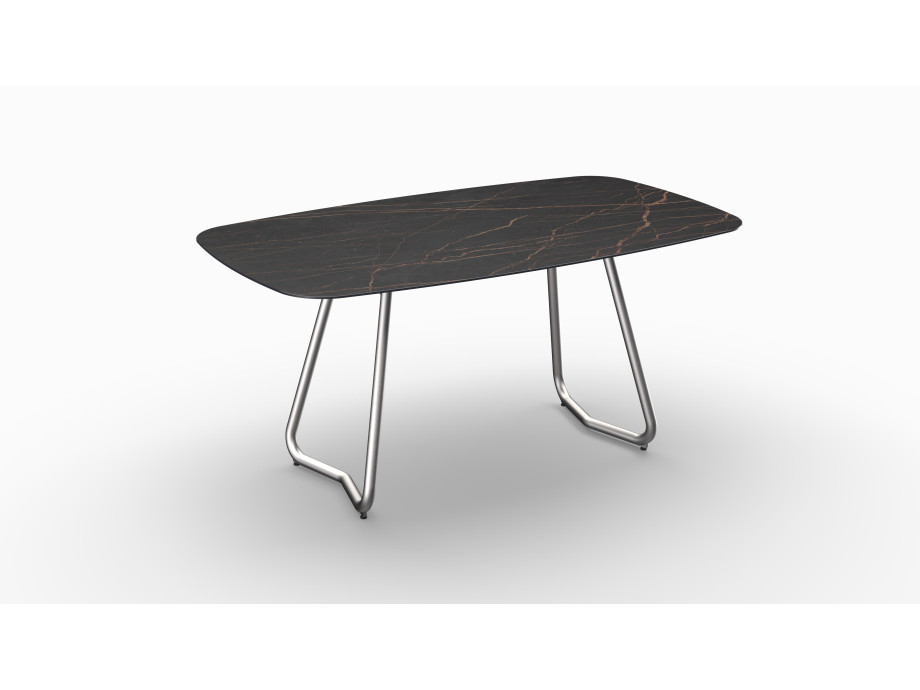 Gartentisch JURA (Tischgestell Edelstahl, Tischplatte Laurent) 01