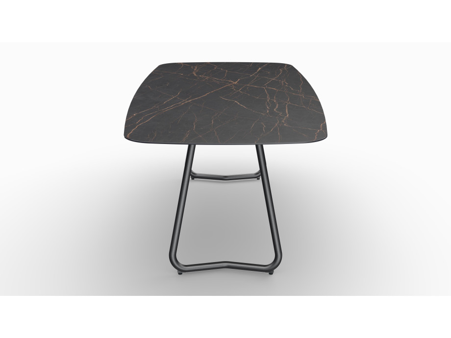 Gartentisch JURA (Tischgestell Stahl eisengrau, Tischplatte Laurent) 08