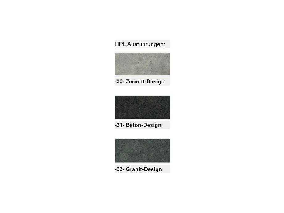 Design Tisch TRINIDAD HPL mit Eisengestell schwarz 02