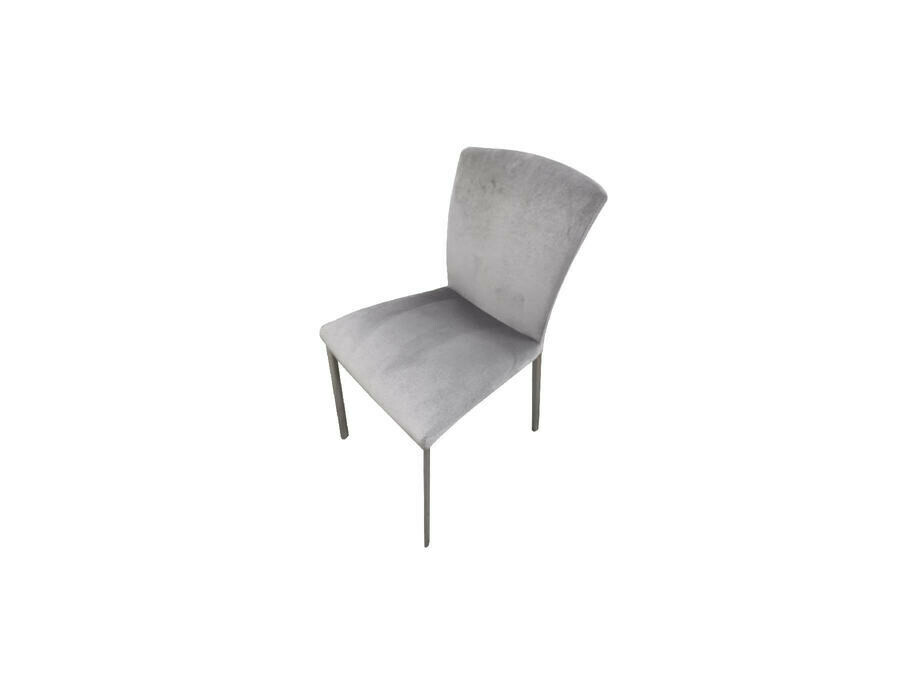 Stuhl CAROLA Vierfuss Stoff grau 01