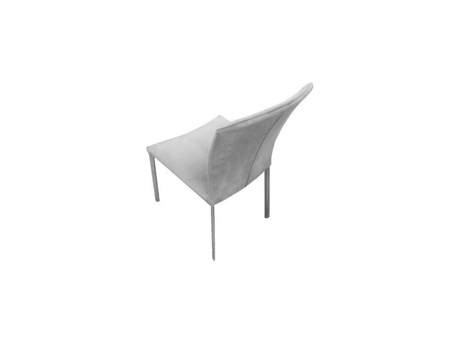 Stuhl CAROLA Vierfuss Stoff grau 03