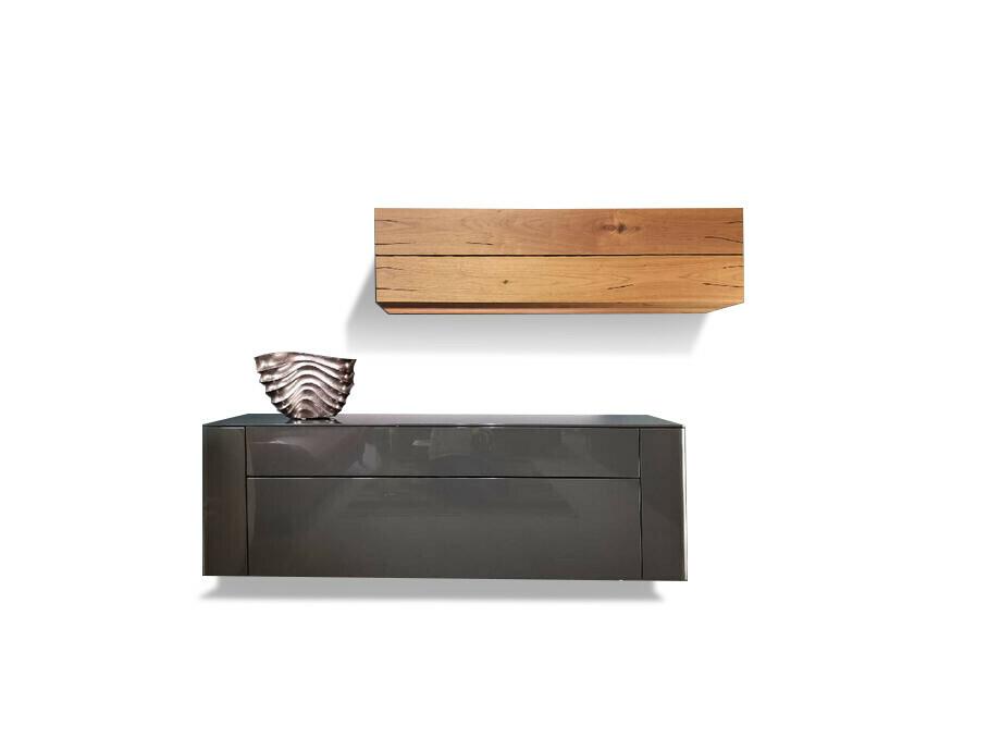 Sideboard hängend GENTIS mit Akzentelement Kernnussbaum 08