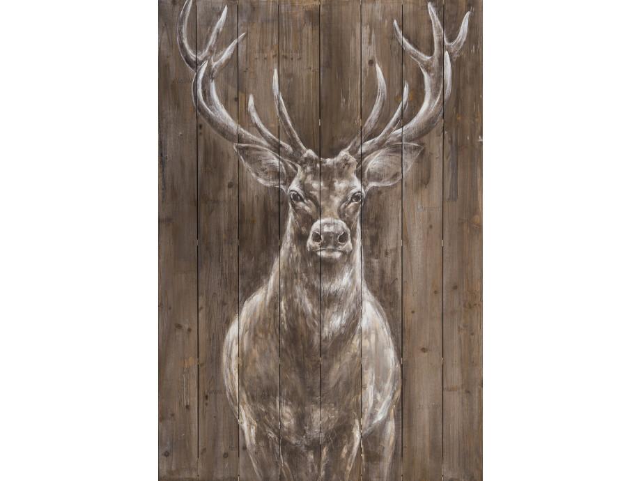 Holz-Wandbild Hirsch 02