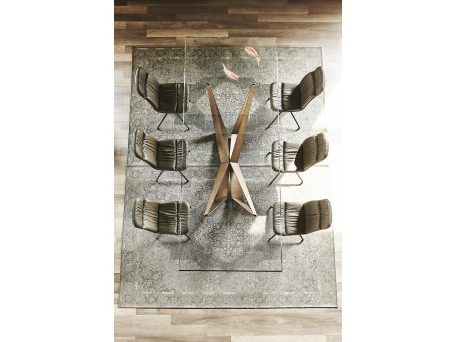 Esstisch Cattelan Skorpio NEW - Brushed Bronze / Brushed Grey 09
