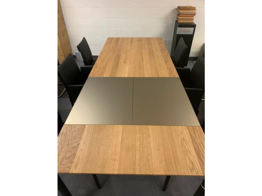 Tisch massiv Modell Anton in Wildeiche 100 x 180 cm mit Auszug 70 cm 01