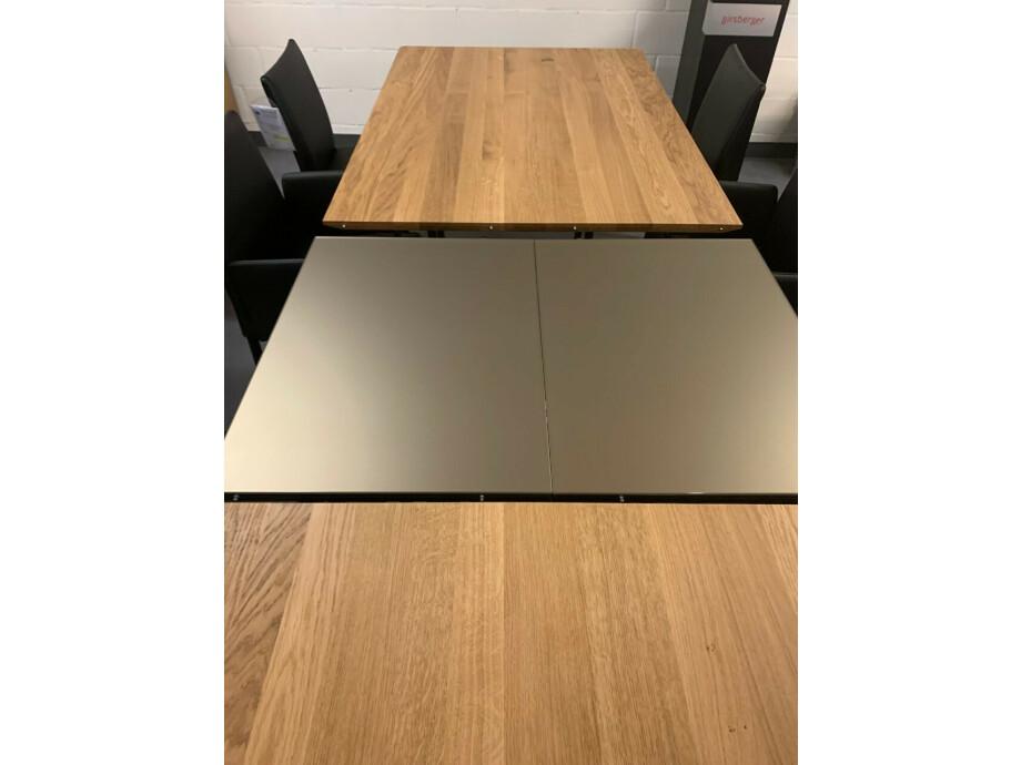 Tisch massiv Modell Anton in Wildeiche 100 x 180 cm mit Auszug 70 cm 03