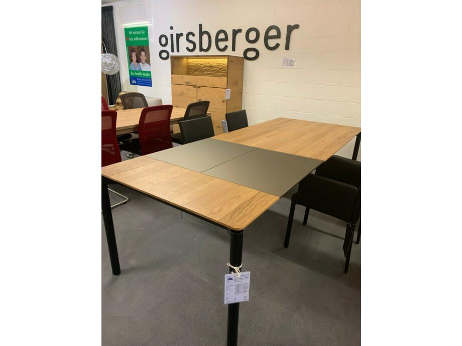 Tisch massiv Modell Anton in Wildeiche 100 x 180 cm mit Auszug 70 cm 10