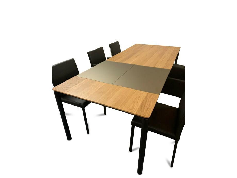 Tisch massiv Modell Anton in Wildeiche 100 x 180 cm mit Auszug 70 cm 14