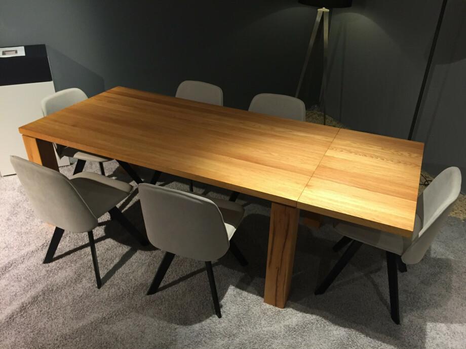 Massivholztisch Elda mit Ansteckplatte 180+50 x 95 cm Lüönd 03