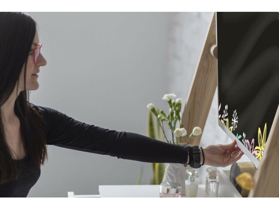 Solovivo Exclusiv! Leno Leiterregal Schreibtisch mit Schiefertafel 02