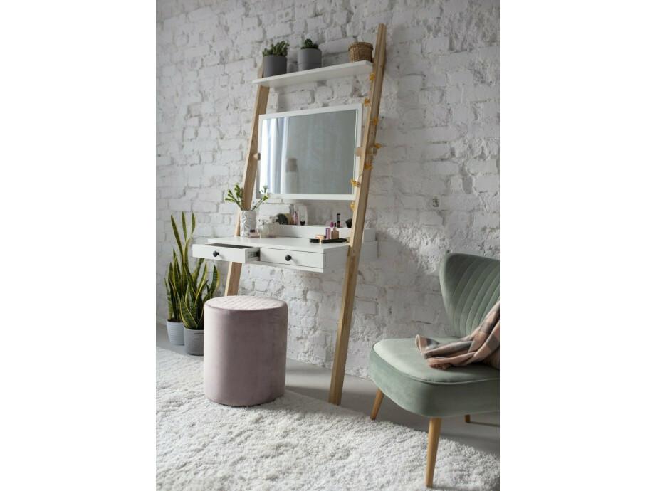 Leno Leiterregal Schreibtisch/Schminktisch mit Spiegel 09