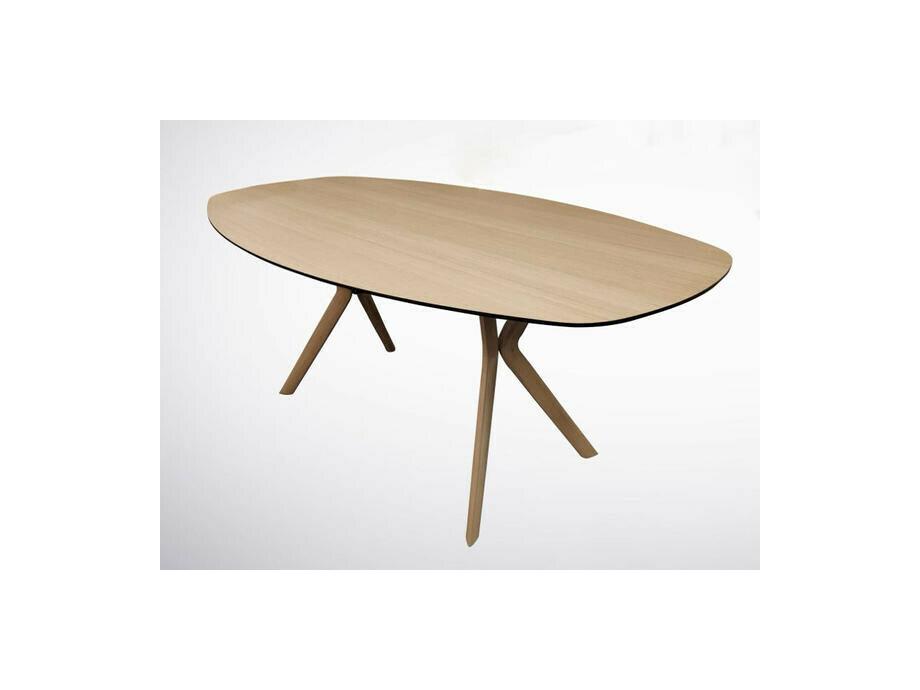 Esstisch ECLIPSE oval in Eiche 100 x 180 cm 01