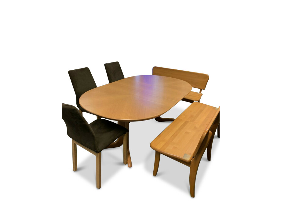 Eckbank und Tisch ausziehbar in Holz (Swiss made) 10